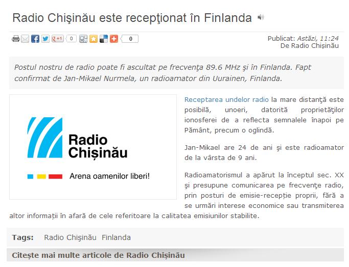 Radio Chisinau QSL1
