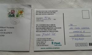 CRo Plzen vastasi sähköpostiin oikein paperikortilla