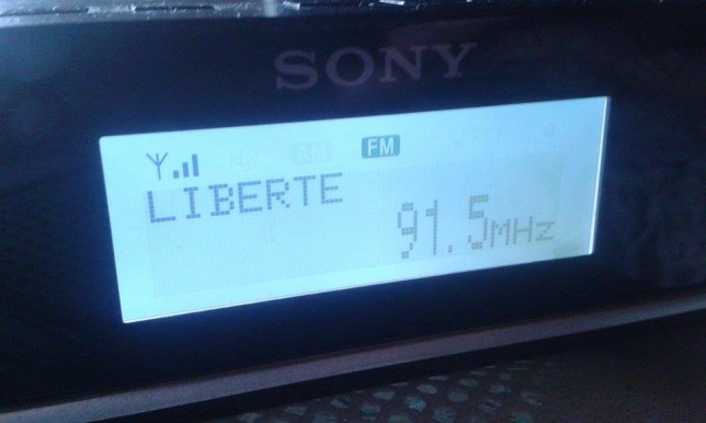 French Radio Liberté came strong with it's 200W