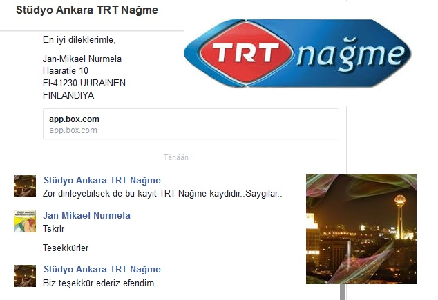 TRT Nagme QSL