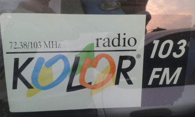 Radio Kolor car sticker