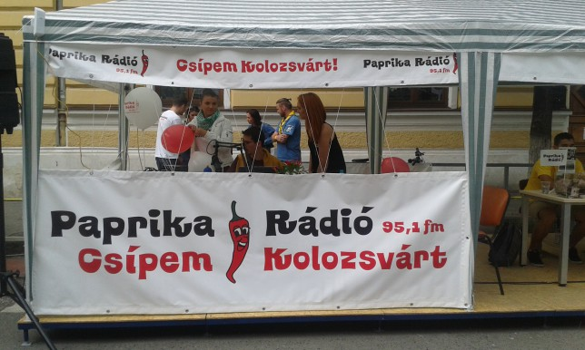 Paprika Rádió 95.1 is Hungarian language radio station in Kolozsvár (Cluj). At that moment they transmitted only carrier, probably for some live transmission tests were going on!