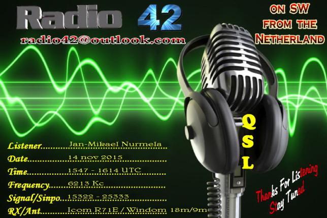 QSL kaart Jan-Mikael Nurmela