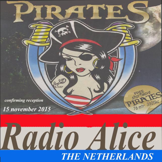 15  QSL radio alice 15-11-2015 on 3903 kc