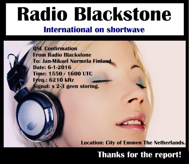 Blackstone e-QSL Jan-Mikael Nurmela Finland 6-1-16