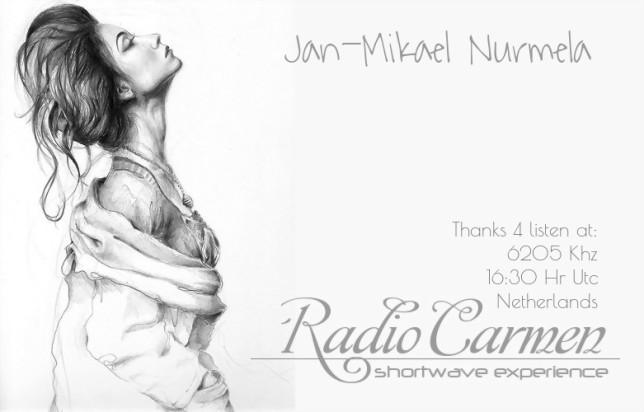 QSL CARMEN RADIO 6205 09-01-2015 to Jan Mikael Nurmela