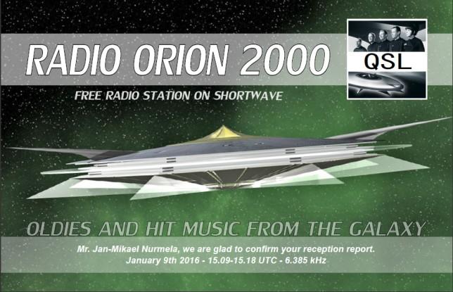Radio Orion QSL