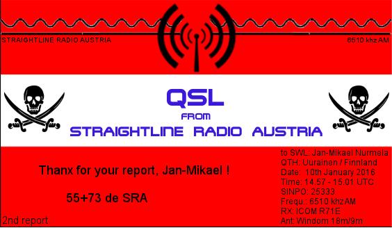 Straightline Radio Austria QSL - Jan-Mikael Nurmela2nd